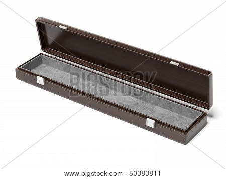 opened wooden case