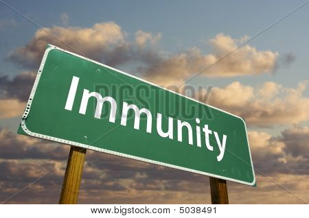 Immunity Green Road Sign