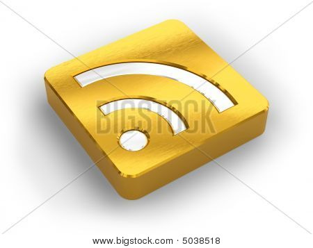 Golden Rss Symbol