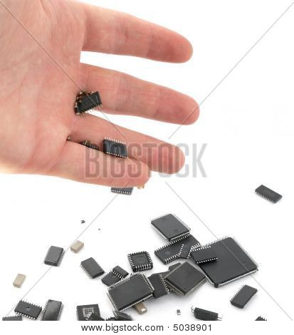 Handful Of Microchips
