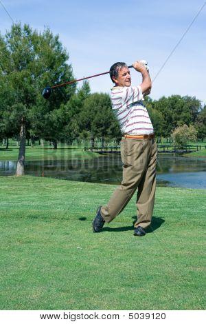 Golfista em t
