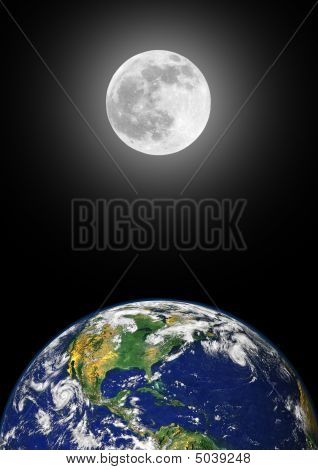 Earth And Moon Beauty