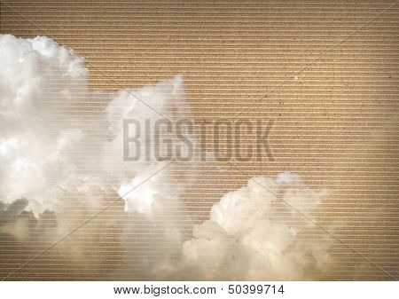 Clouds Over Cardboard