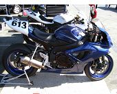 pic of crotch-rocket  - Motorcycle prepped and waiting for up coming race - JPG