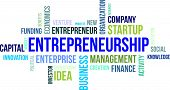 stock photo of entrepreneurship  - A word cloud of entrepreneurship related items - JPG