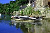 Small Boat In Village Harbour poster