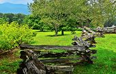 foto of split rail fence  - A view of a portion of Table Rock State Park in South Carolina - JPG
