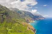 stock photo of na  - Na Pali Cost on Kauai island on Hawaii - JPG