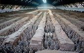 stock photo of qin dynasty  - Picture of Qin Shi Huang tomb in Xi - JPG