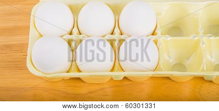 Six Eggs In A Foam Container