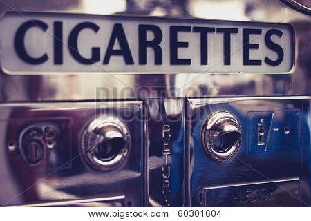 Old Cigarette Vending Machine