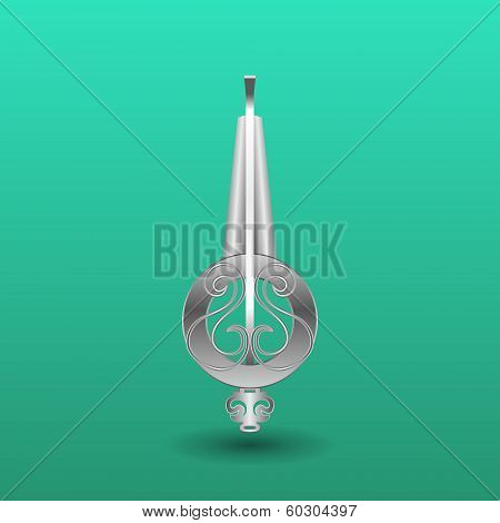 Jew's-harp music instrument. Khomus. Vector