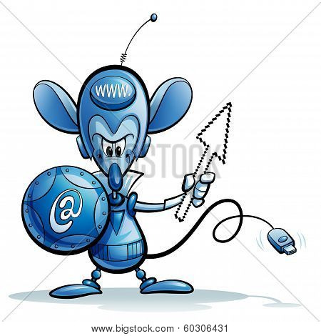 Cartoon Character Of Internet Mouse Safety Guardian Icon
