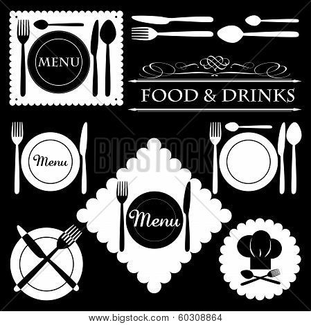 Menu Labels Set for Restaurants and Bars - vector eps10
