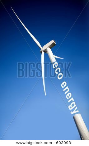 Windmill Over A Blue Sky