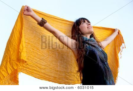 Woman With A Pashnmina