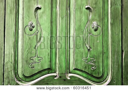 Rustic Door Carving Detail