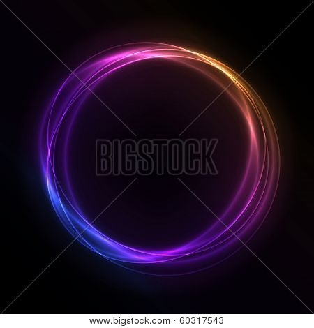Colorful Glowing Rings - vector eps10