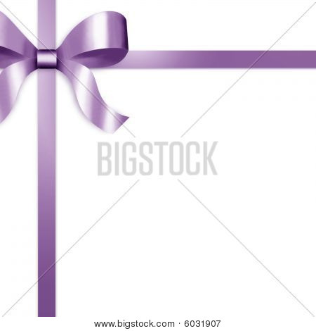Gift Ribbon With Purple Satin Bow