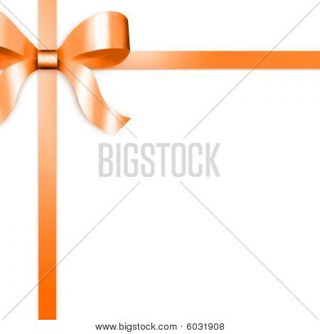 Geschenk-Band mit Orange Satin Schleife