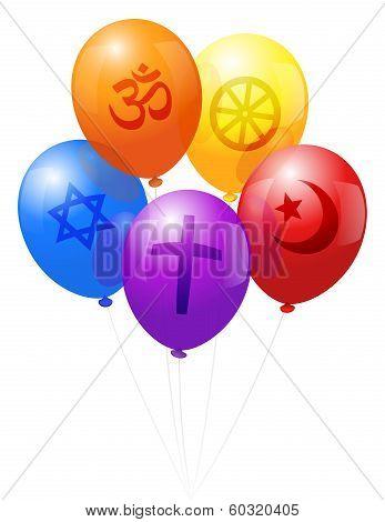 Balloons World Religions