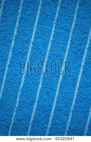 Blue Bath Towel Surface Texture, Close Up