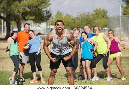 Loud Boot Camp Fitness Trainer