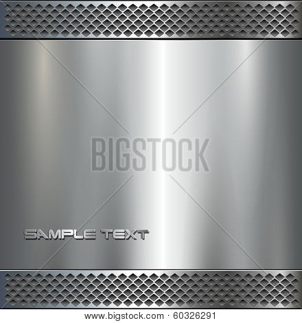 Background , polished metal texture, vector.