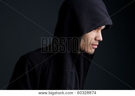 Man With Hooded Sweatshirt
