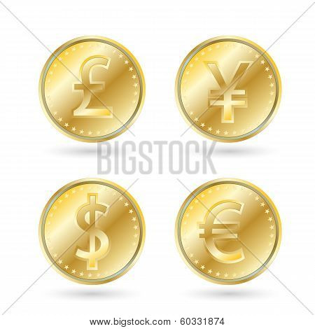 Currency Symbols, Gold Coin