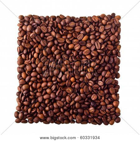 Square from Coffe beans
