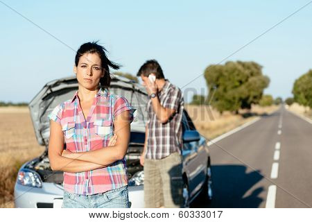 Couple Waiting For Car Service
