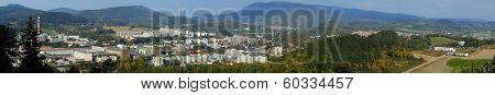 Panorama Of City Roznov Pod Radhostem, Czech Republic