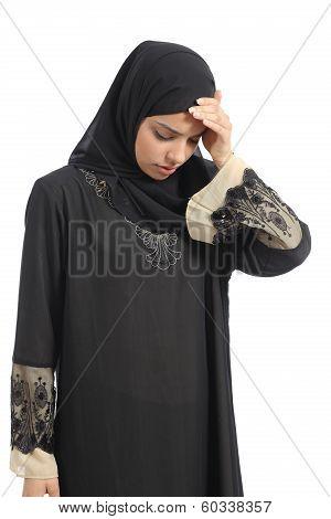 Arab Saudi Emirates Woman With Head Ache