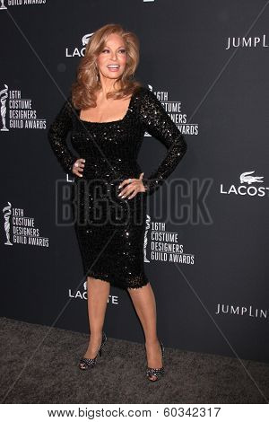 LOS ANGELES - FEB 22:  Raquel Welch at the 16th Annual Costume Designer Guild Awards at Beverly Hilton Hotel on February 22, 2014 in Beverly Hills, CA