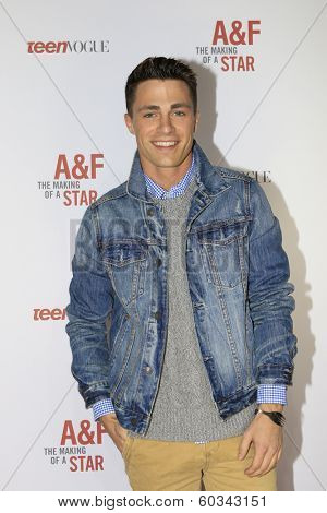 LOS ANGELES - FEB 22:  Colton Haynes at the Abercrombie & Fitch 'The Making of a Star' Spring Campaign Party  at Siren Studios on February 22, 2014 in Los Angeles, CA