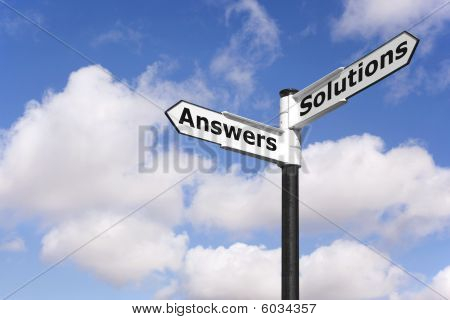 Answers And Solutions Signpost