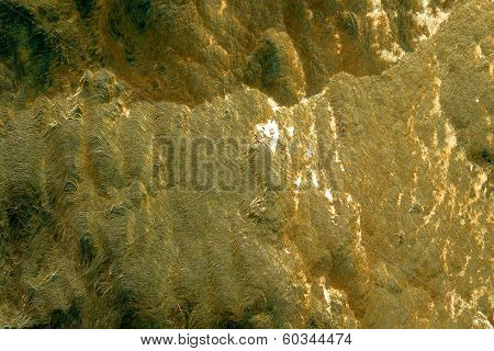 Golden Pyrite Background