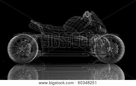 Quad bike, motorcycle,  3D model