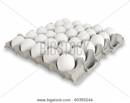 30 White Eggs