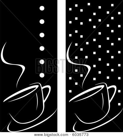 Coffee Cup On Black Background