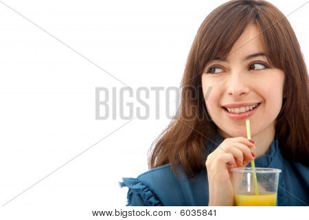 Woman Portrait Drinking