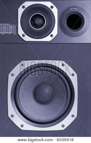 Two Way Hi-fi Audio Speaker, Blue Toned