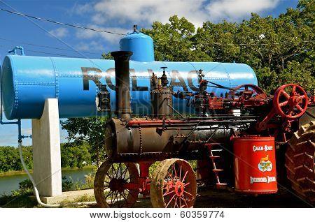 Restored Steam Engine at Rollag
