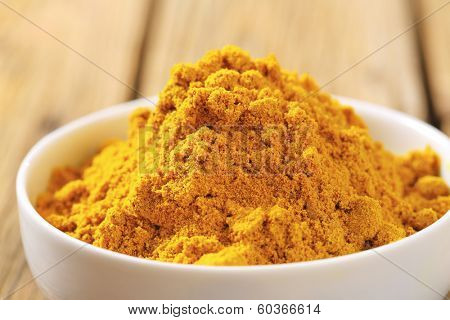 detail of curry powder in a bowl