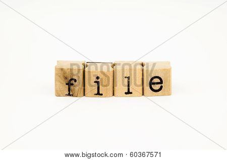 File Wording Isolate On White Background