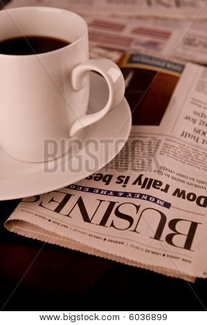 Morning Coffee and paper