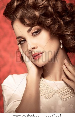 Sensual Expressive Model Toned Vintage Image