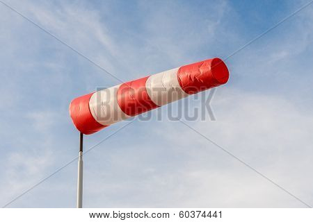 Windsock Against A Blue Sky