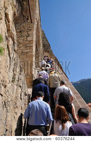 Visitors Of Sumela Monastery In Trabzon